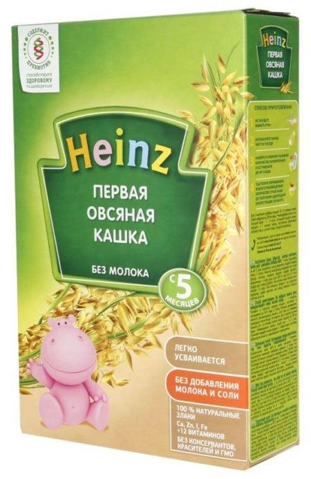Каша Heinz безмолочная Первая овсяная с пребиотиками (с 5 месяцев) 180 г