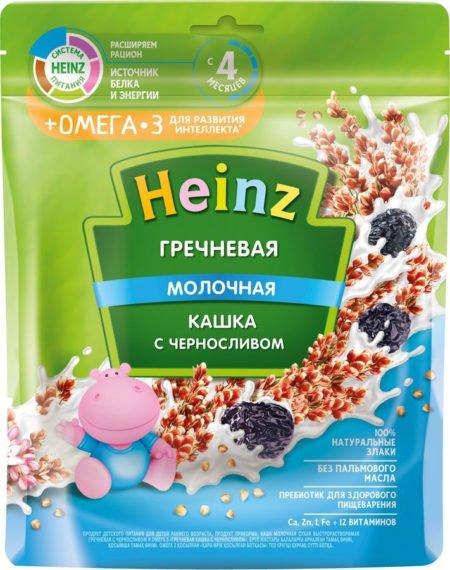 Каша Heinz молочная гречневая с черносливом (с 4 месяцев) 200 г