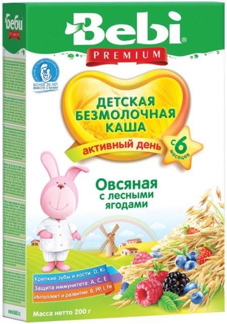 Bebi каша б/м овсяная с лесными ягодами   200 гр