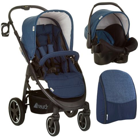 Hauck Soul Plus Stroller,Bootcover and Bag — Melange Navy