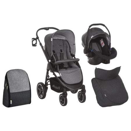 Hauck Soul Plus Stroller, Bootcover and Bag — Beluga
