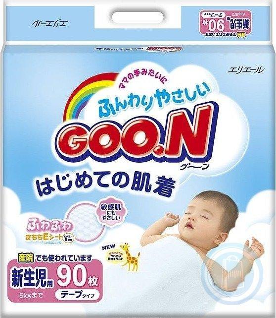 Подгузники Goo.N для новорожденных, размер N/B (0-5 кг), 90 шт.