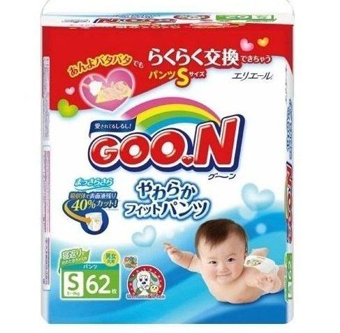 Трусики-подгузники Goo.N, размер S (5-9 кг), 62 шт.