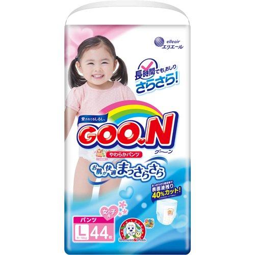 Подгузники-трусики Goo.N размер  L (9 — 14 кг) для девочек 44 шт