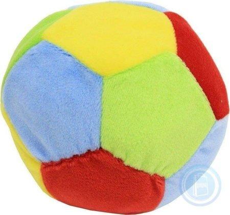 BABY NOVA 31168 погремушка мяч из ткани с рисунком