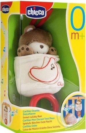 Chicco Музыкальная подвеска «Мягкий мишка»