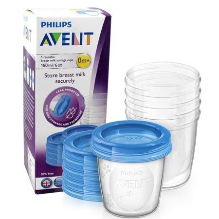 Avent 619/05 контейнеры для хранения грудного молока 180 мл 5 шт