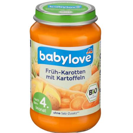 Babylove пюре ранняя морковь с картофелем  190 гр
