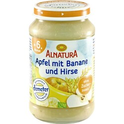 Alnatura пюре яблоко банан пшено 190 гр
