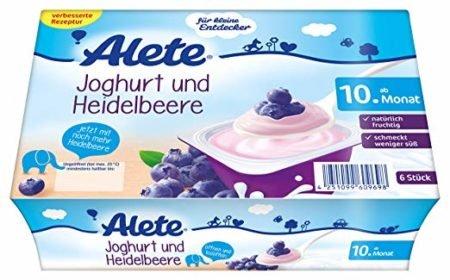 Alete йогурт с черникой 6 шт 50 гр