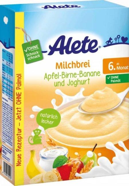 Alete мол пудинг яблоко груша банан йогурт 400 гр