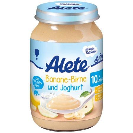 Alete банан груша и йогурт  190 гр