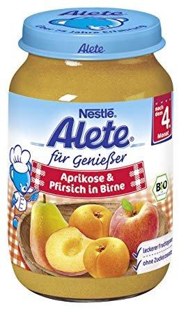 Alete абрикос персик груша 190 гр