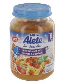 Alete вечерняя паста с помидорми и цукини 220 гр