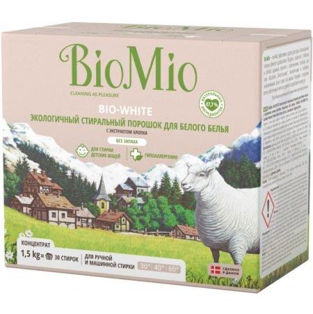 BioMio Стиральный порошок для белого белья, 1500 мл (BioMio, Стирка)