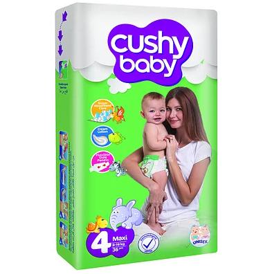 Cushy Baby подгузники Maxi 4 jumbo (8-19 кг) 60 шт