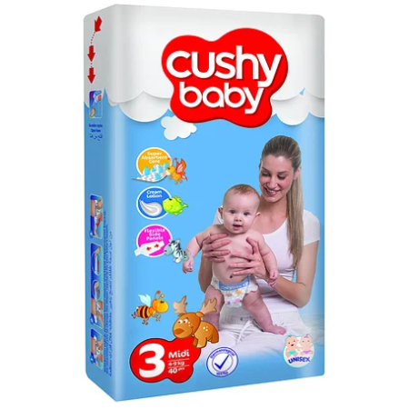 Cushy Baby подгузники Midi 3 Jumbo (4-9 кг) 70 шт