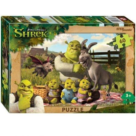 Step Puzzle «Shrek», 60 элементов (33х23 см)