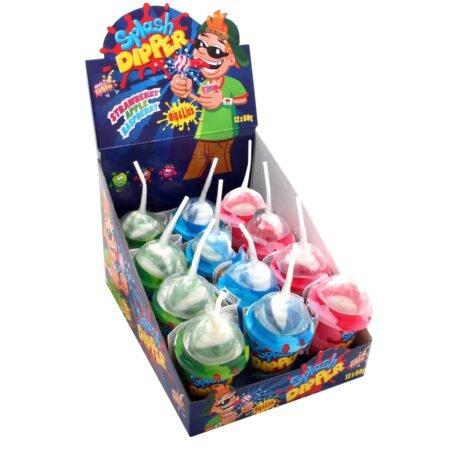 Gunz Fizzy-dip lollipops 50 g