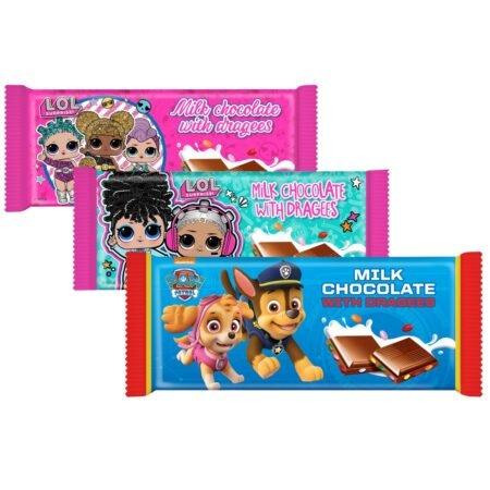Gunz Chocolate bar mixed box LOL 90 g