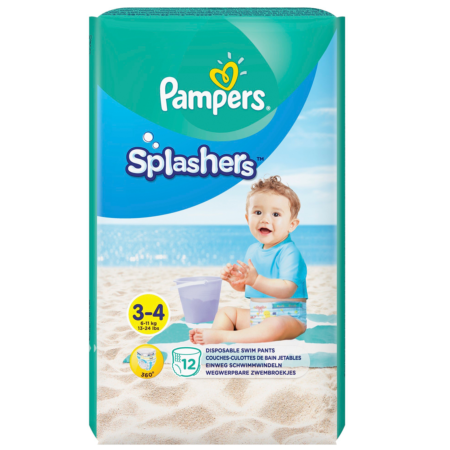 Трусики-подгузники Pampers Splashers для плавания (6-11 кг) 14 шт